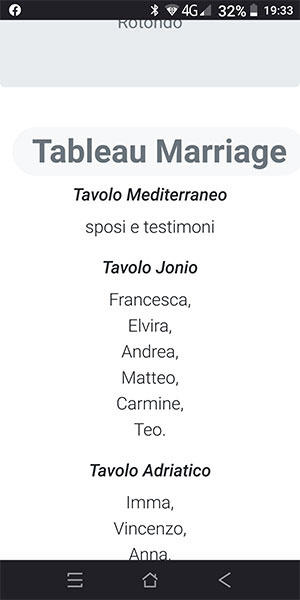 tableau marriage